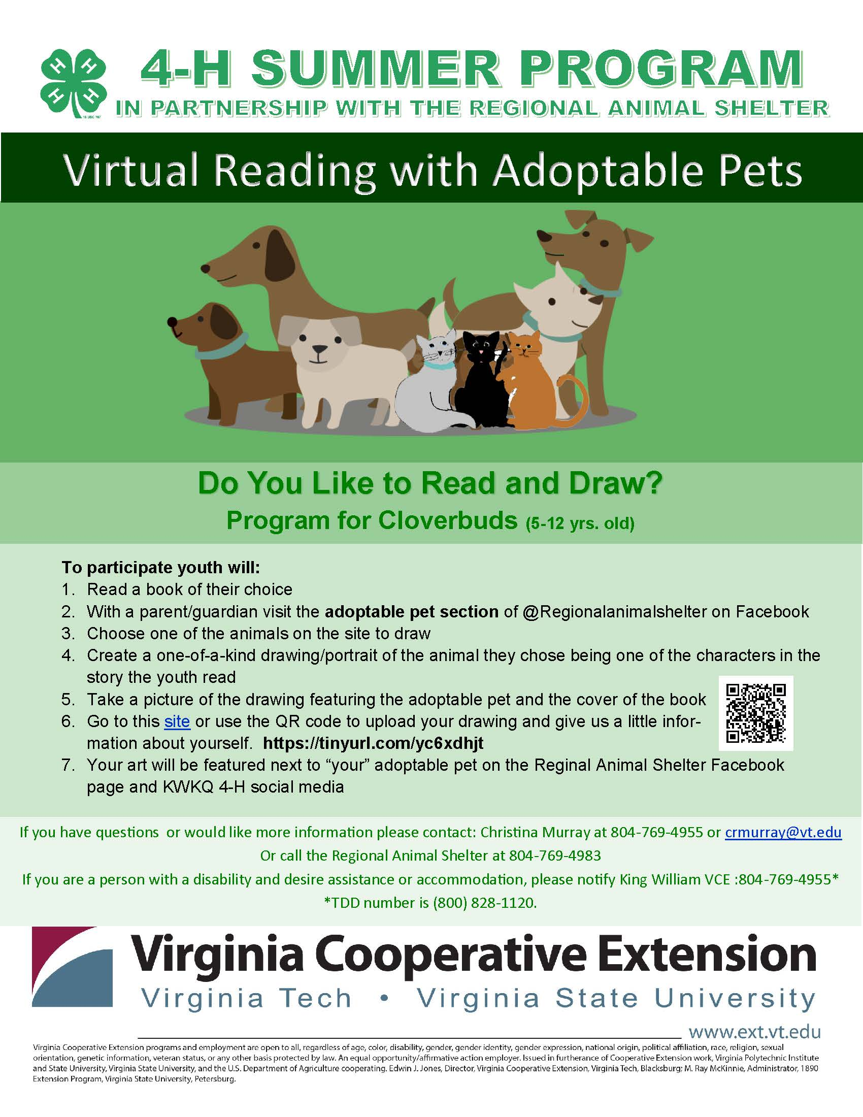 Virtual Reading with Pets